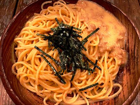 たらことウニとなっとうのスパゲティー画像