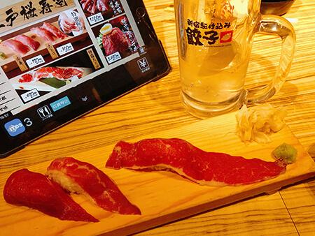 新宿美味しい肉寿司画像