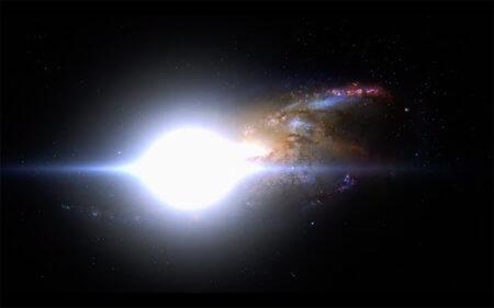 「灯火の星」銀河画像