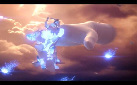 「灯火の星」マスターハンドの中画像